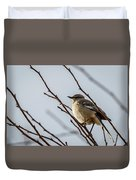 Winter Mockingbird Duvet Cover