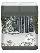 Winter Moments In Harz Mountains Duvet Cover