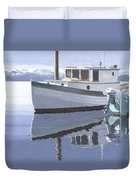 Winter Moorage Duvet Cover