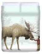 Winter Moose Duvet Cover by Eric Fan