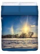 Winter Morn In Minnesota Duvet Cover
