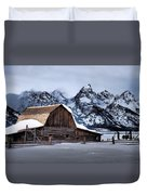 Winter Morning At John Moulton Barn Duvet Cover