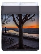 Winter Morning Breath Duvet Cover