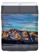 Winter Morning South Lake Tahoe Duvet Cover