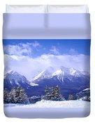 Winter Mountains Duvet Cover by Elena Elisseeva