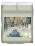 Winter On Stormcreek Duvet Cover