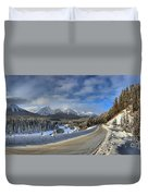 Morant's Curve On The Bow Valley Parkway Duvet Cover
