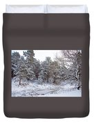 Winter On The Chase Duvet Cover
