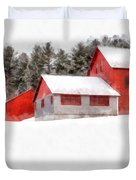 Winter On The Farm Enfield Duvet Cover