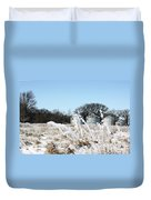 Winter On The Prairie Number 2 Duvet Cover