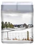 Winter Ontario Farm 3 Duvet Cover
