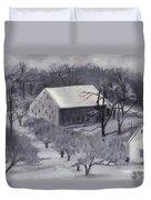 Winter Orchard Duvet Cover