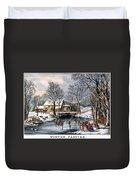 Winter Pastime, 1870 Duvet Cover