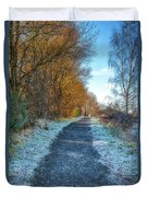 Winter Path In Scotland Duvet Cover