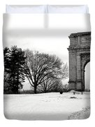 Winter Path To Glory Duvet Cover