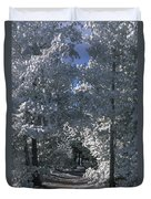 Winter Pathway Duvet Cover