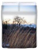 Winter Prairie Grass At Dusk Duvet Cover