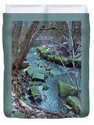 Winter Ravine Duvet Cover