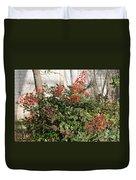 Winter Red Berries Duvet Cover