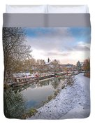 Winter Reflections On The River Duvet Cover