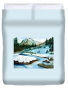 Winter Retreating Duvet Cover