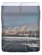 Winter River Light Duvet Cover
