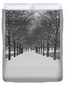 Winter Rows Duvet Cover
