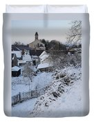 Winter Scene In North Wales Duvet Cover