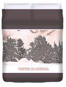 Winter Scene In The Colorado Rockies Duvet Cover