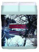 Winter Scene Duvet Cover