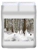 Winter Scene Print Duvet Cover