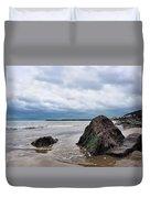 Winter Seascape - Lyme Regis Duvet Cover