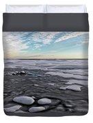 Winter Shoreline Duvet Cover