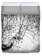 Winter Shrubs, New Hampshire Duvet Cover