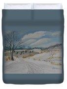 Winter Skate Duvet Cover