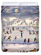 Winter Skating Duvet Cover
