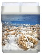 Winter Snowstorm Blankets The Alabama Hills California Duvet Cover