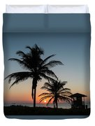 Winter Solstice Sunrise Delray Beach Florida Duvet Cover