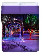 Winter Spirit At Locomotive Park Duvet Cover