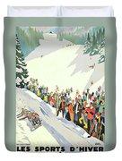 Winter Sport, Mountain, France Duvet Cover