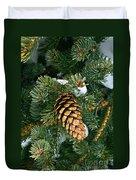 Winter Spruce Duvet Cover