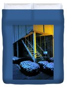 Winter Stairs Duvet Cover by Guy Ricketts