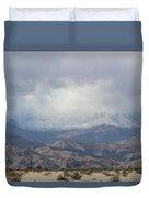Winter Storm On Desert Mountain Duvet Cover