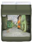 Winter Street Duvet Cover