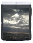 Winter Sun At Sea Duvet Cover