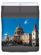 Winter Sun St Paul's Cathedral Duvet Cover