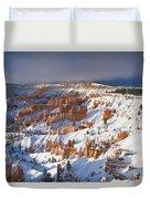 Winter Sunrise Bryce Canyon National Park Utah Duvet Cover