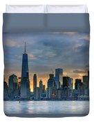Winter Sunrise New York City Duvet Cover