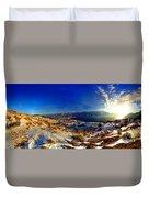 Winter Sunrise On Skaha Duvet Cover