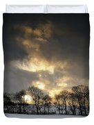 Winter Sunset, Trough Of Bowland, England Duvet Cover